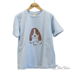 Lasten t-paita koirapainatuksella, luomupuuvillaa