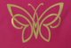 Naisten slim fit -mallinen luomupuuvillainen t-paita kultaisella perhoskuvalla