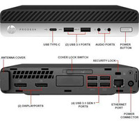 HP ProDesk 600 G3 Desktop Mini PC i5 8GB/240SSD (SATA) Win 10 Home