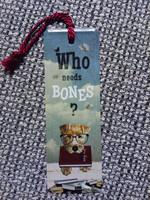 Kirjanmerkki Who Needs Bones