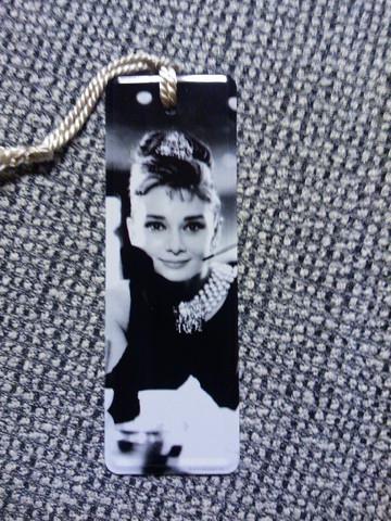 Kirjanmerkki Audrey Hepburn 1