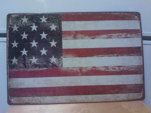 Peltitaulu Lippu Usa