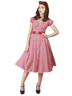 Dolores Doll Dress Gingham