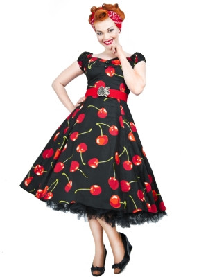 Dolores Doll Dress Cherry Stem
