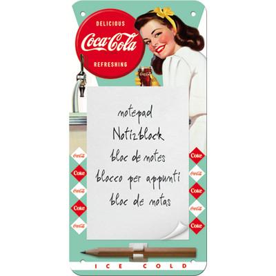 Magneettinen muistilehtiö Coca Cola