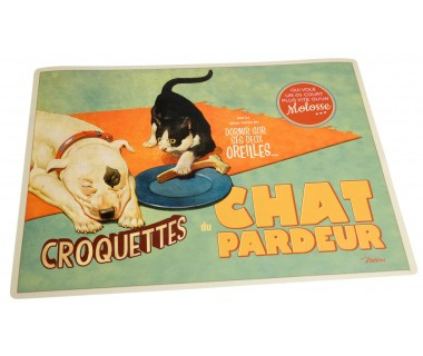 Ruokailualusta kissalle Chat Pardeur