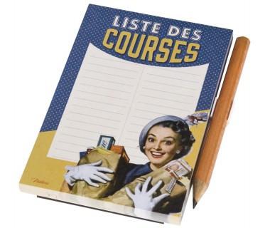 Muistilehtiö Liste des Courses