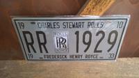Peltitaulu Rolls Royce