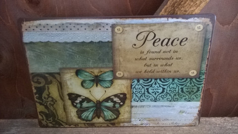 Peltitaulu Peace