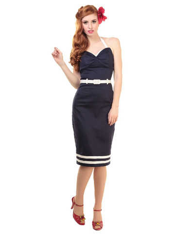 Ginger Sailor Wing Bust Pencil Dress