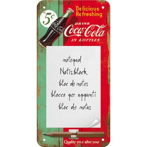 Magneettinen muistilehtiö Coca Cola 5C