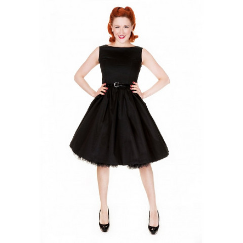 Audrey Swing Evening Dress Black