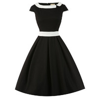 Chloe Black White Swing Dress