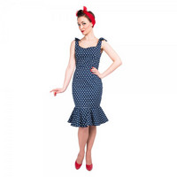 Ariel Pretty Polka Dot Wiggle Dress
