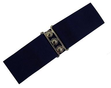 Hell Bunny Retro Belt - Tumman Sininen