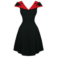 Evie Dress Red/Black