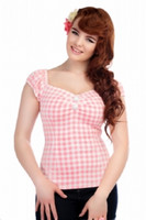 Dolores Pastel Gingham Top Pink