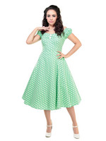 Dolores Vintage Polka Dot Doll Dress