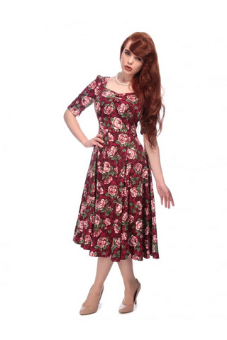 Dolores Doll Half Sleeve Bloom Dress