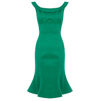 Isla Fishtail Wiggle Dress Vihreä