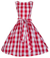 Audrey Red Check Dress