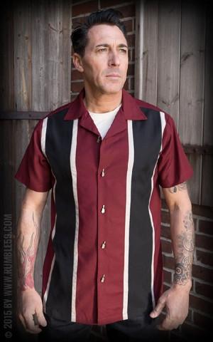 Classic Paita Two Stripes Viininpunainen