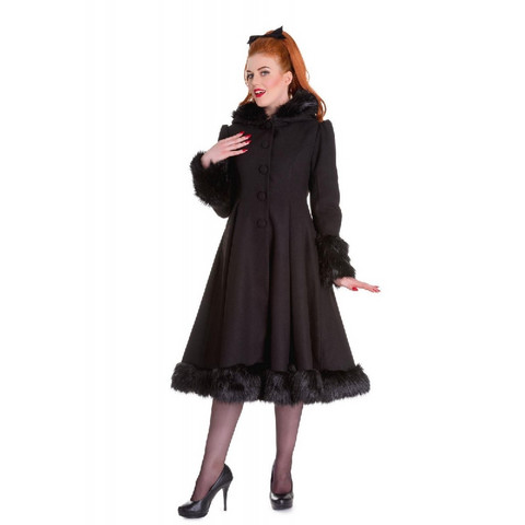 Elvira Coat Musta
