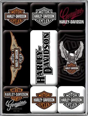Magneettisetti Harley Davidson Logot