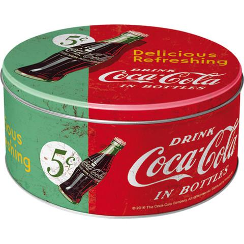 Peltipurkki Coca-Cola Pyöreä