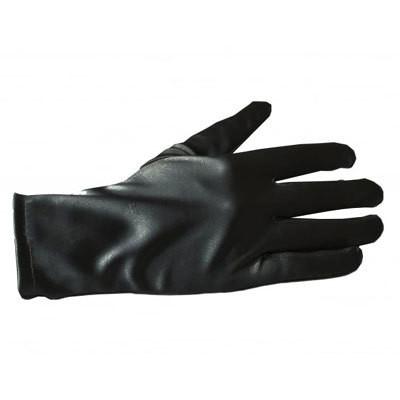 Satiini hansikkaat - Musta