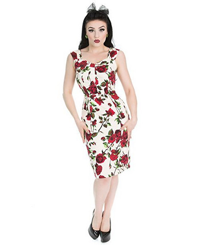 Red Rose Pencil Dress