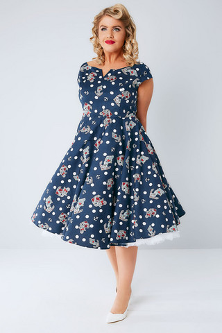 SALINA 50S DRESS Plus size