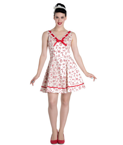 Hell Bunny Alizea Nautical Mini Dress Punainen