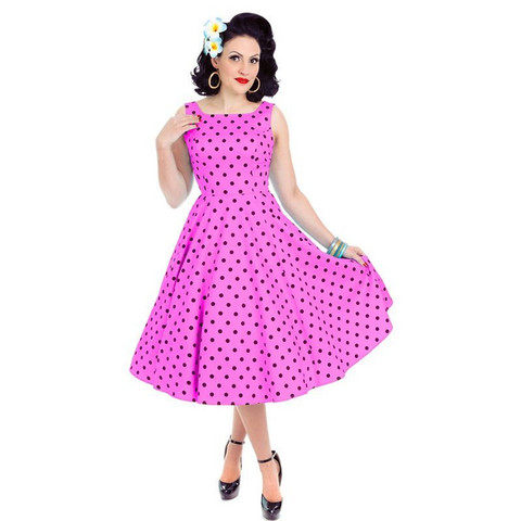 Rhiannon Swing Dress In Raspberry
