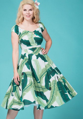 Dolores Banana Leaf doll dress