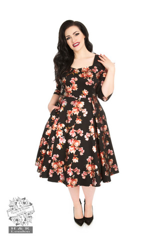 Metallic Magnolia Swing Dress Plus Size