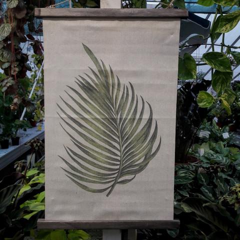 Seinävaate palmunlehti