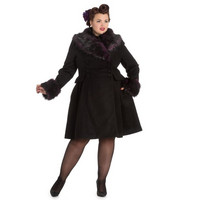 Rock Noir Coat Musta/lila