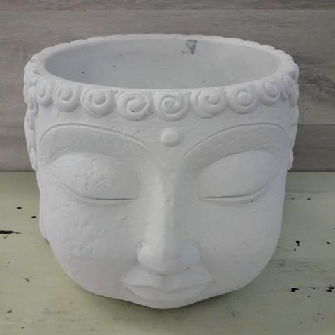 Buddha ruukku valkoinen 12,5 cm