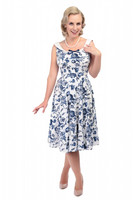 Maddison Toile Floral Print Swing Dress