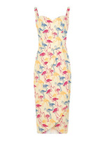 Mahina Flamingo Print Sarong Dress