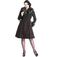 Rock Noir Coat Musta/Vihreä talvitakki