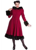 Elvira Coat Viininpunainen talvitakki