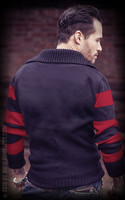 Racing Sweater Blank - black/red