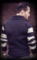 Racing Sweater Blank - black/offwhite