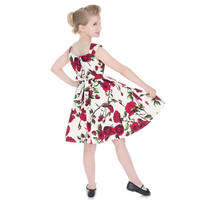 Lasten 50'S Rose Print Summer Dress