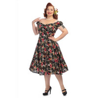 Dolores Lanai Hibiscus Doll Dress