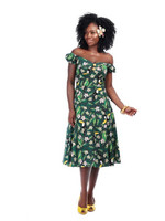 DOLORES TROPICAL BIRD DRESS