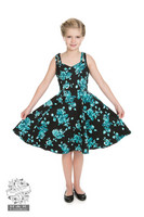 Black Rosaceae swing Dress Kids