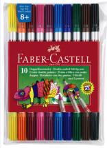 Huopakynä Faber-Castell kaksipäinen 10 värin sarja